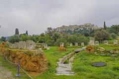 Старая агора Стоковая Фотография