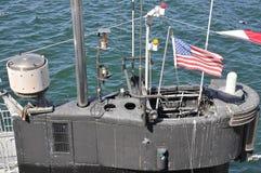 Старая американская подводная лодка на морском музее Стоковые Изображения RF