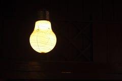Старая лампа на ноче Стоковое Изображение