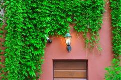Старая лампа на стене Стоковые Фото