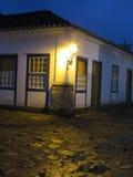 Старая лампа - улица - Lamparina - Lampiao - Paraty Стоковые Изображения