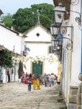 Старая лампа - улица - Lamparina - Lampiao - Paraty Стоковые Фото