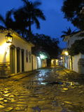 Старая лампа - улица - Lamparina - Lampiao - Paraty Стоковое Изображение RF