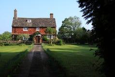 старая английского сельского дома историческая Стоковые Фото