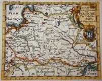 Античная карта Польша Стоковое фото RF