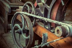 Старая античная сельско-хозяйственная техника стоковая фотография