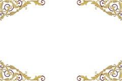 Старая античная штукатурка рамки золота огораживает isolat греческой культуры римское Стоковые Фотографии RF