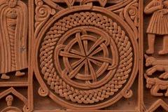 Старая армянская надгробная плита стоковые изображения rf
