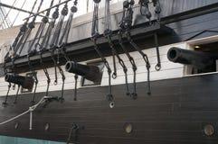 старая артиллерийского корабля военноморская Стоковое Изображение RF