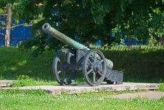 Старая артиллерийская система. Стоковые Изображения RF