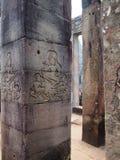 Старая архитектура висок Камбоджи, Angkor Wat Стоковое Фото