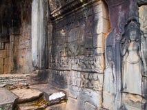 Старая архитектура висок Камбоджи, Angkor Wat Стоковая Фотография RF
