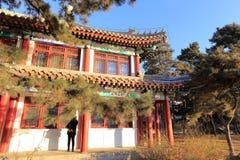Старая архитектура в Пекинском университете, самане rgb Стоковая Фотография