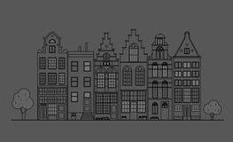 Старая архитектура Голландии Стоковое Фото