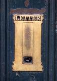 Старая латунная коробка письма Стоковые Фотографии RF