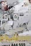 Старая афиша с сорванными бумажными текстурой или вертикалью плакатов назад Стоковые Изображения