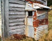 Старая лачуга олова стоковые фотографии rf
