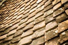Старая ая черепицей крыша Стоковая Фотография