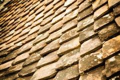 Старая ая черепицей крыша Стоковое Фото