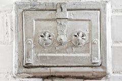 старая ая черепицей печка Стоковые Фото
