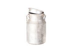 Старая алюминиевая чонсервная банка изолированная на белой предпосылке Стоковое Изображение RF