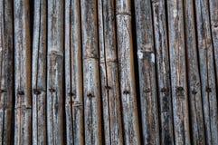 Старая бамбуковая загородка Стоковая Фотография