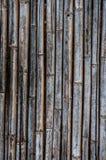 Старая бамбуковая загородка Стоковое Изображение