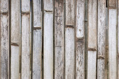 Старая бамбуковая предпосылка стены Стоковое Фото