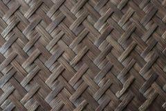 Старая бамбуковая предпосылка текстуры weave Стоковое Фото