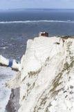 Старая батарея, иглы, остров Уайт Стоковое Изображение RF