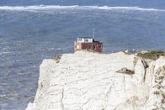 Старая батарея, иглы, остров Уайт Стоковая Фотография