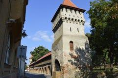 Старая башня в городе Сибиу Стоковые Фотографии RF