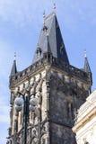 Старая башня городка, башня порошка, Прага, чехия Стоковое Фото