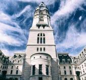 Старая башня здание муниципалитета в Филадельфии Стоковые Изображения