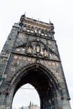 Старая башня моста городка в Карловом мосте в Праге Стоковое фото RF