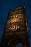 Старая башня моста городка на Карловом мосте в Праге Стоковое Фото