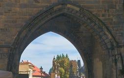 Старая башня моста городка на Карловом мосте, Праге Стоковое Изображение