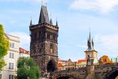 Старая башня моста городка, Прага Стоковое Фото