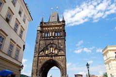 Старая башня моста городка, Прага Стоковая Фотография