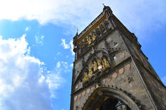 Старая башня моста городка, Прага Стоковое Изображение RF