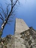 Старая башня от замка в Хорватии Стоковые Изображения RF