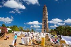 Старая башня рабства в Manaca Iznaga около Тринидада, Кубы Стоковое Изображение