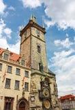 Старая башня с астрономическими часами, Прагой, чехией Стоковое Изображение RF