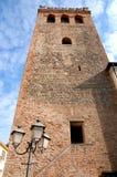 Старая башня с уличным светом в Monselice в венето (Италия) Стоковое фото RF