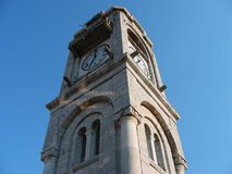 Старая башня с часами на городке Dimitsana в Пелопоннесе Греции Стоковое фото RF