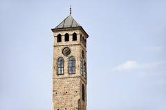 Старая башня с часами Сараева Стоковая Фотография RF