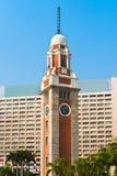 Старая башня с часами, со своей классической архитектурой на Kowloon, Hon Стоковые Фото