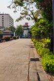 Старая башня тюремного офицера которая построила с кирпичом, древесиной и красным цветом Стоковые Фотографии RF