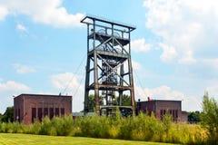 Старая башня угольной шахты Стоковые Изображения