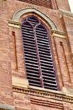 Старая башня церковного колокола кирпича Стоковая Фотография RF
